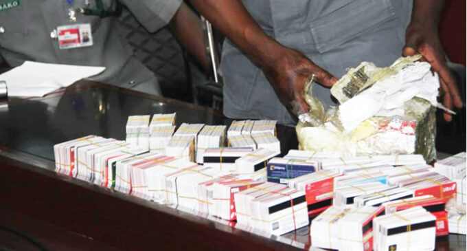 Man caught with 2,886 ATM cards hidden in packs of noodles at Lagos airport