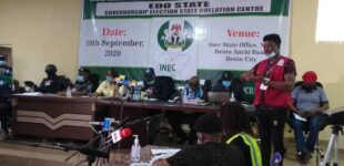 LIVE: INEC announces Edo governorship election results