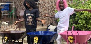 PHOTOS: Ikorodu Bois recreates DJ Cuppy, Temi Otedola's Ferrari shoot