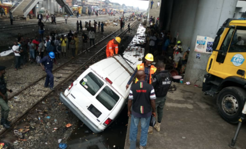 One dead as bus rams into moving train in Lagos