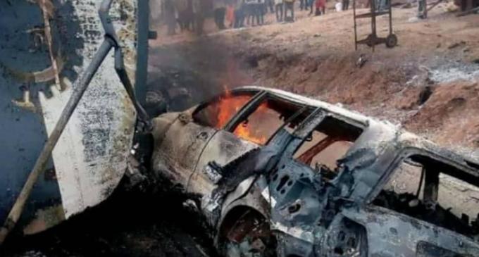25 killed, vehicles burnt as petrol tanker explodes in Kogi (updated)
