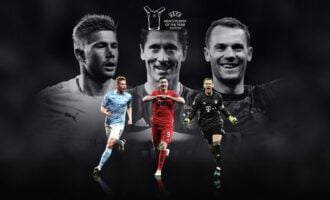 De Bruyne, Lewandowski, Neuer nominated for UEFA player award