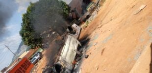 Abuja police station on fire