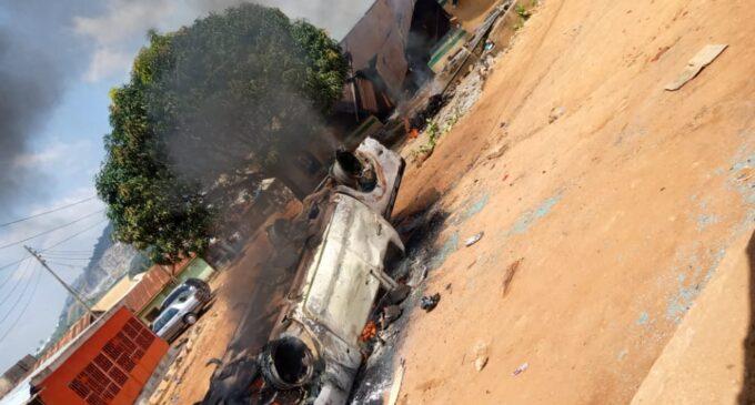 Abuja police station on fire
