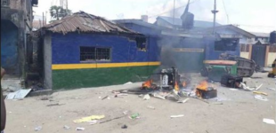 'Seven shot' as another police station is razed in Lagos