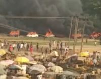 'Hoodlums' attack #EndSARS protesters in Abuja, set their cars on fire