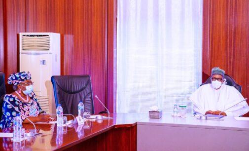 Okonjo-Iweala visits Buhari in Aso Rock