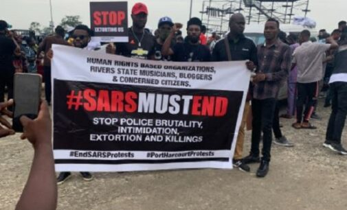 #EndSARS: Protesters defy Wike, march to demand police reform
