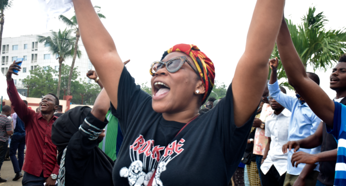 Women at the forefront of the #EndSARS movement