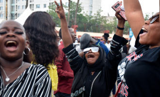 PHOTOS: The moment #EndSARS protesters took a break for worship