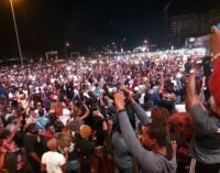 PHOTOS: Protesters hold candle light procession for SARS victims across the nation