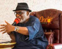 Akeredolu: Govs are called chief security officer but without power over police