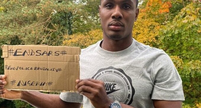 Man Utd's Ighalo blasts Nigerian government over protest killings