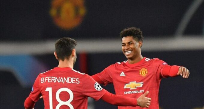 UCL results: Rashford nets hat-trick as Man United thrash Leipzig 5-0