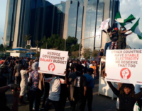 #EndSARS protesters block CBN head office