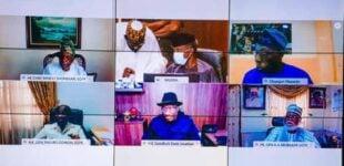 Buhari meets Jonathan, Obasanjo, Abdulsalami amid #EndSARS crisis