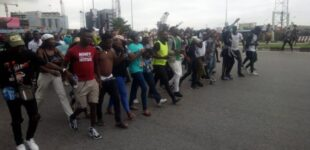 #EndSARS: Panic as DJ Switch helps protesters shot at Lekki toll gate