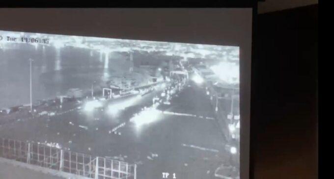 Video footage shows army sent 7 trucks to Lekki tollgate