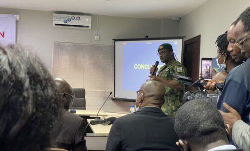 EXTRA: I wish I brought a rifle to try it on you, army commander jokes with panel member over Lekki shooting