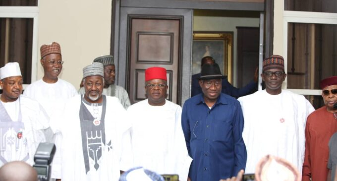 EXCLUSIVE: APC governors swoop on Jonathan ahead of 2023 elections