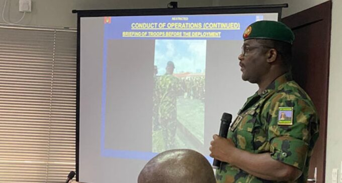 Given the same circumstance, we'll repeat what we did in Lekki, says army