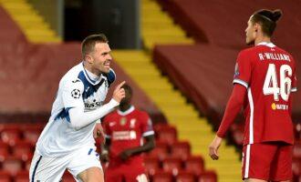 UCL results: Atalanta beat Liverpool at Anfield