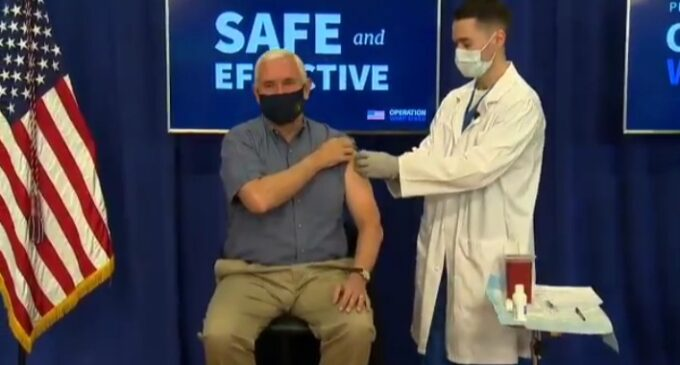 Pence receives COVID-19 vaccine on camera