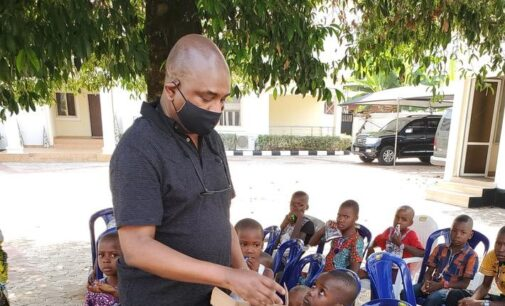Moghalu under attack for publicising distribution of biscuits to children