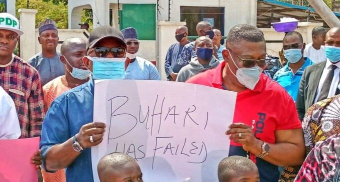 Secondus leads protest over abduction of Kankara schoolboys