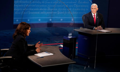 Trump still adamant on Biden but Pence congratulates Kamala Harris