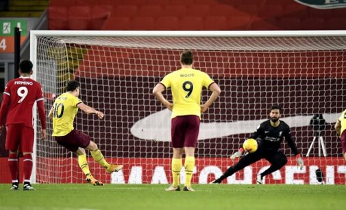 Burnley end Liverpool's 68-match unbeaten home record in EPL