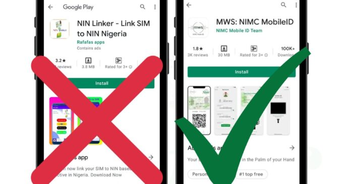'Beware of fraudulent app for linking NIN with SIM cards' — NIMC alerts Nigerians