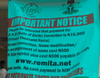 NIMC: Nigerians to pay N15,000 for date of birth modification