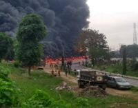 Petrol tanker explodes at Toyota bus stop in Lagos