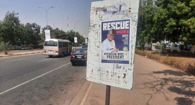 PHOTOS: 'Wike for president' campaign posters surface in Abuja