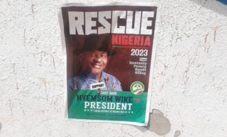 'It's the handiwork of mischief makers' — Wike disowns presidential campaign posters