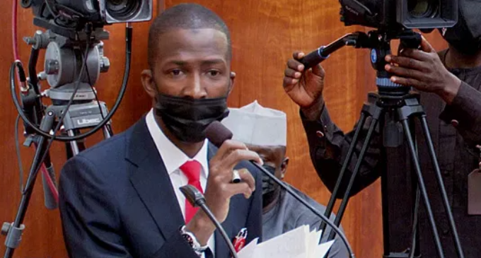 EXTRA: Faulty device or tension? EFCC boss couldn't stop adjusting mic at screening