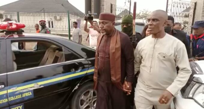 Okorocha arrested for unsealing seized hotel in Imo