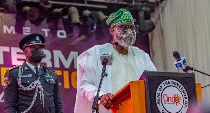 EXTRA: I'll bring you back to the fold, Akeredolu tells Obaseki at inauguration