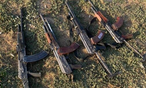 Troops recover AK-47 rifles from bandits in Kaduna