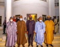 PHOTOS: Northern governors visit Makinde over Shasha crisis