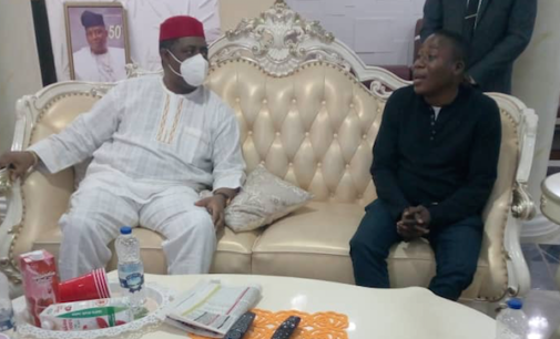 PHOTOS: Fani-Kayode visits Sunday Igboho in Ibadan