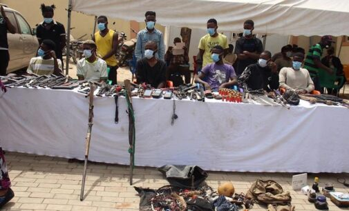 Rifles, POS machines recovered as police arrest 48 suspects for kidnapping, cybercrime
