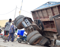 PHOTOS: Aftermath of Lagos railway crossing collision