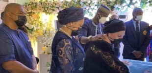 PHOTOS: Tears as Peter Okoye's father-in-law is buried