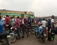 Train collides with truck in Lagos