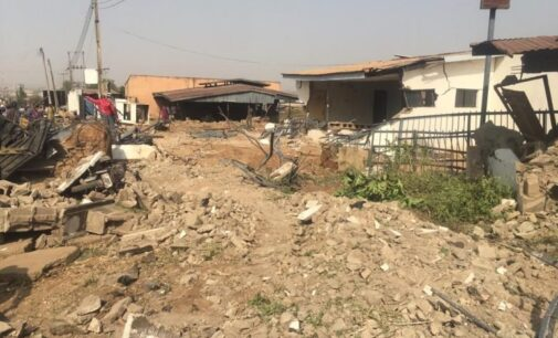 Saraki kicks as Kwara carries out total demolition of 'Ile Arugbo'
