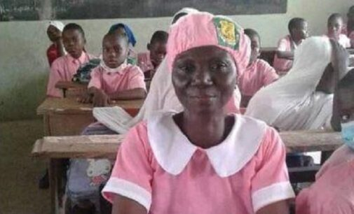 PHOTOS: 50-year-old woman becomes JSS2 student in Kwara