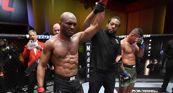 UFC 258: Nigeria's Kamaru Usman knocks out Gilbert Burns to retain welterweight title