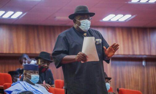 EXTRA: 'I should enlighten you' — Dickson tackles senator for saying Mubi bigger than Bayelsa